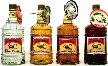 Бутылки с мескалем
