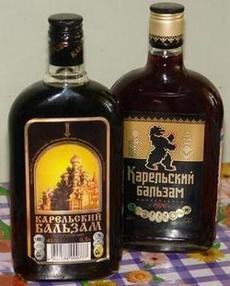 Две бутылки Карельского бальзама