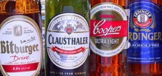 4 бутылки безалкогольного пива