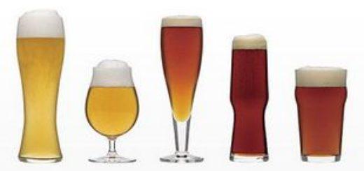 Пять бокалов с пивом