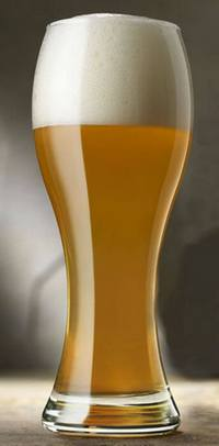 Светлое пшеничное нефильтрованное пиво
