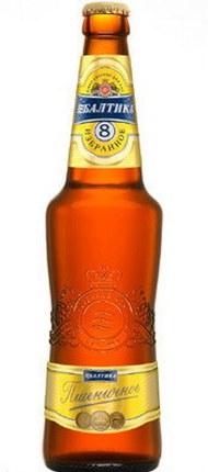 Российское пшеничное пиво Балтика 8