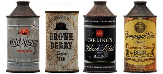 Старый стиль банок пива