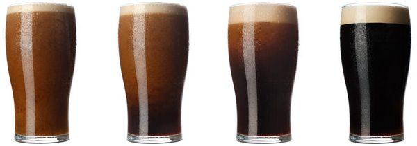 Пена в пиве стаут