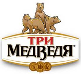 Логотип пива Три Медведя
