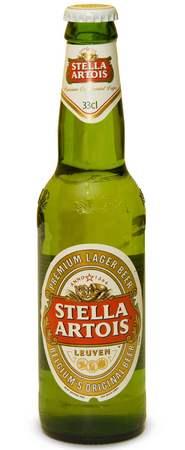 Бутылка пива Stella Artois
