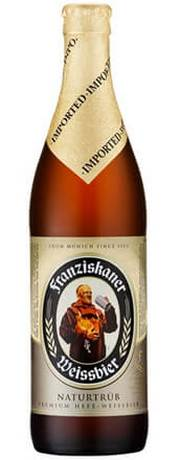 Бутылка пива Franziskaner Hefe-Weisse Hell