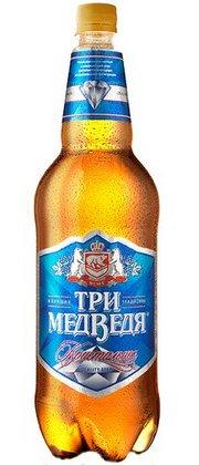 Бутылка пива Три Медведя Кристальное