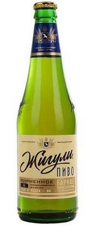 Бутылка пива Жигули Барное