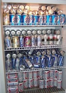 Пиво в холодильнике