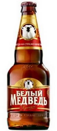 Бутылка пиво Белый Медведь крепкое