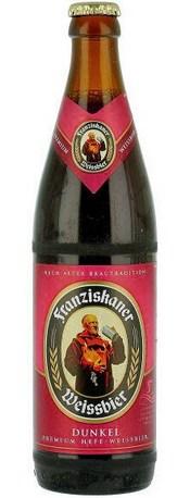 Бутылка пива Franziskaner Hefe-Weisse Dunkel