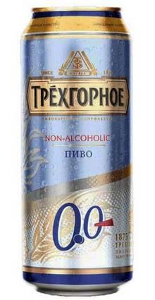 Банка пива Трехгорное Безалкогольное
