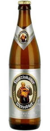 Бутылка пива Franziskaner Weissbier Kristallklar