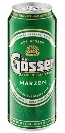 Банка пива Gosser Märzen