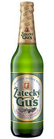 Бутылка пива Zatecky Gus Non-Alcoholic