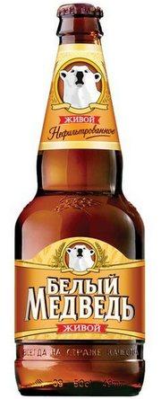 Бутылка пиво Белый Медведь живой