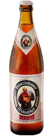 Бутылка пива Franziskaner Hefe-Weissbier Leicht