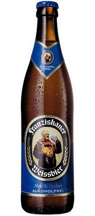 Бутылка пива Franziskaner Hefe-Weissbier Alkoholfrei