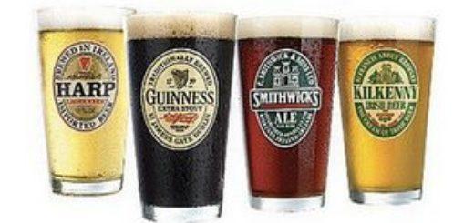 4 бокала ирландского пива