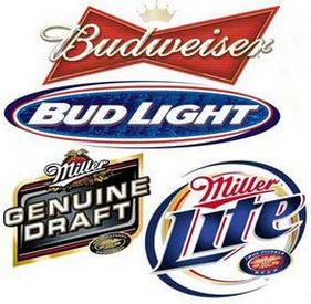 Эмблемы американских пивоваренных марок