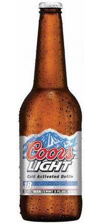 Бутылка пива Coors Light