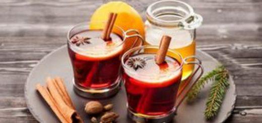 Глинтвейн с медом и апельсином