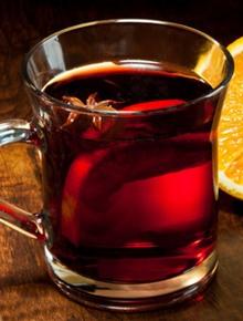 Безалкогольный глинтвейн с чаем
