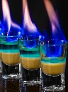 горящие алкогольные коктейли рецепты