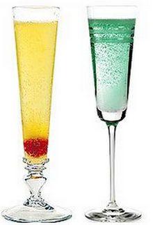 Два коктейля с шампанским