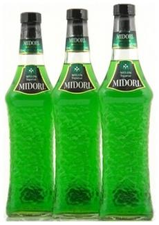 Три бутылки Мидори