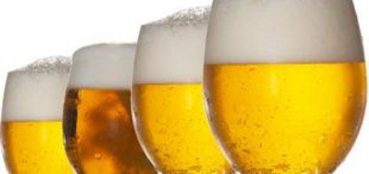 4 бокала с пивом